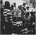 Eleanor Roosevelt and Wiltwyck boys at Val,Kill in Hyde Park, New York - NARA - 195500.jpg