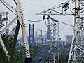 Electrical Pylons with Factory Chimneys - Dniprovsky District - Zaporozhye - Ukraine (43375129314).jpg