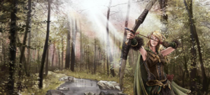 Elves in fiction - A recent interpretation of a fantasy elf, from the Wesnoth fantasy setting