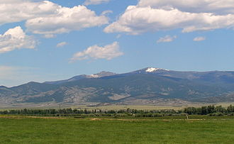 Elkhorn Mountains - South face of the Elkhorns as seen from outside Boulder, Montana.