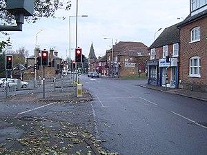 A5183 road - Image: Elstree, Watling Street geograph.org.uk 86008