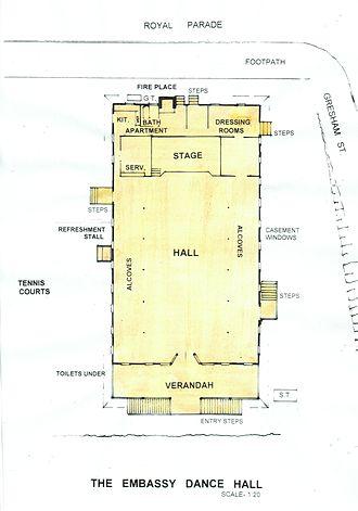 St Johns Wood, Queensland - Embassy Dance Hall Floor Plan