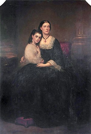 William Henry Smith (1825–1891) - Image: Emily, 1st Vicountess Hambleden, and her daughter, by Richard Buckner