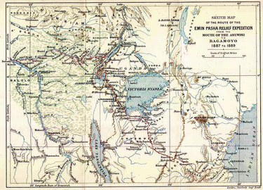 Emin pasha relief expedition map 1890
