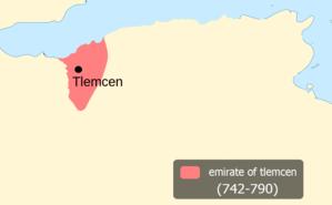 Emirate of Tlemcen - Emirate of tlemcen around 742-790