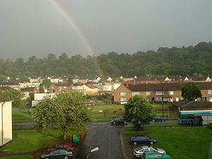 End of the Rainbow in Lawrence Weston, Bristol