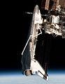 Endeavour from Soyuz TMA-20 (crop) - ISS027-E-036710.jpg