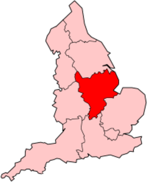 East Midlands (European Parliament constituency) - Image: England East Midlands