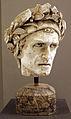 Enrico Pazzi, modello in gesso per la testa del monumento a dante alighieri, 1860-1865 ca..JPG