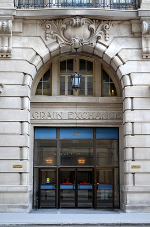 Exchange District - Entrance to the Grain Exchange building at 167 Lombard Ave