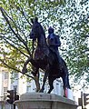 Equestrian statue of King George III with a knitted scarf. The statue went through a phase of people embellishing it, often referencing events in the king's life.jpg