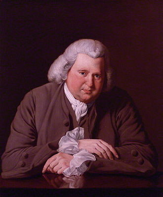 Lunar Society of Birmingham - Erasmus Darwin by Joseph Wright of Derby, 1770 (Birmingham Museum and Art Gallery)