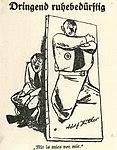 Erich Ohser - Dringend ruhebedürftig, Vorwärts 1932.jpg