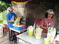 Es Air Tebu (Sugarcane juice) seller.JPG