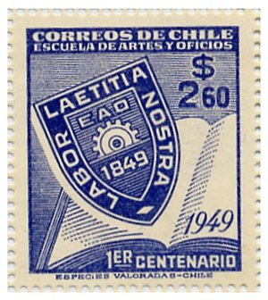 University of Santiago, Chile - EAO commemorative stamp