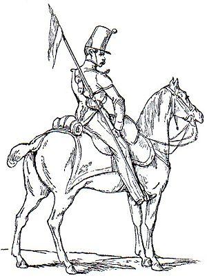 Éclaireurs of the Guard - Sketch of an Éclaireur-Dragon