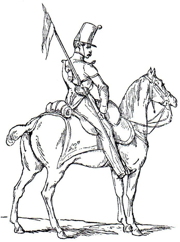 Esploratore a cavallo della Vecchia Guardia Adolphe de Chesnel