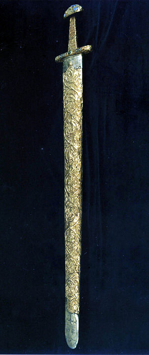 Sword of Saints Cosmas and Damian - The sword in its scabbard