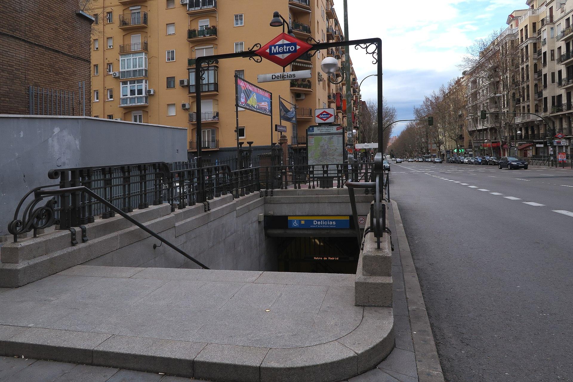 Estaci n de delicias metro de madrid wikipedia la for Pisos en delicias madrid