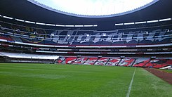 Estadio Azteca cancha vista norte.jpg