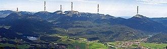 Ester Mountains - Image: Estergebirge beschriftet