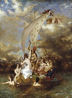 <i>Youth on the Prow, and Pleasure at the Helm</i> 1832 painting by William Etty, inspired by a metaphor in Thomas Grays poem The Bard