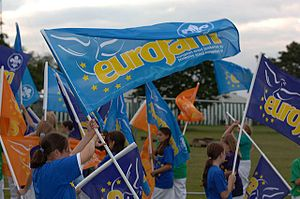 European Scout Jamboree - Flag bearers at the opening of EuroJam 2005