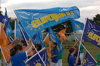European Scout Jamboree - Flag bearers at the opening of EuroJam 2005