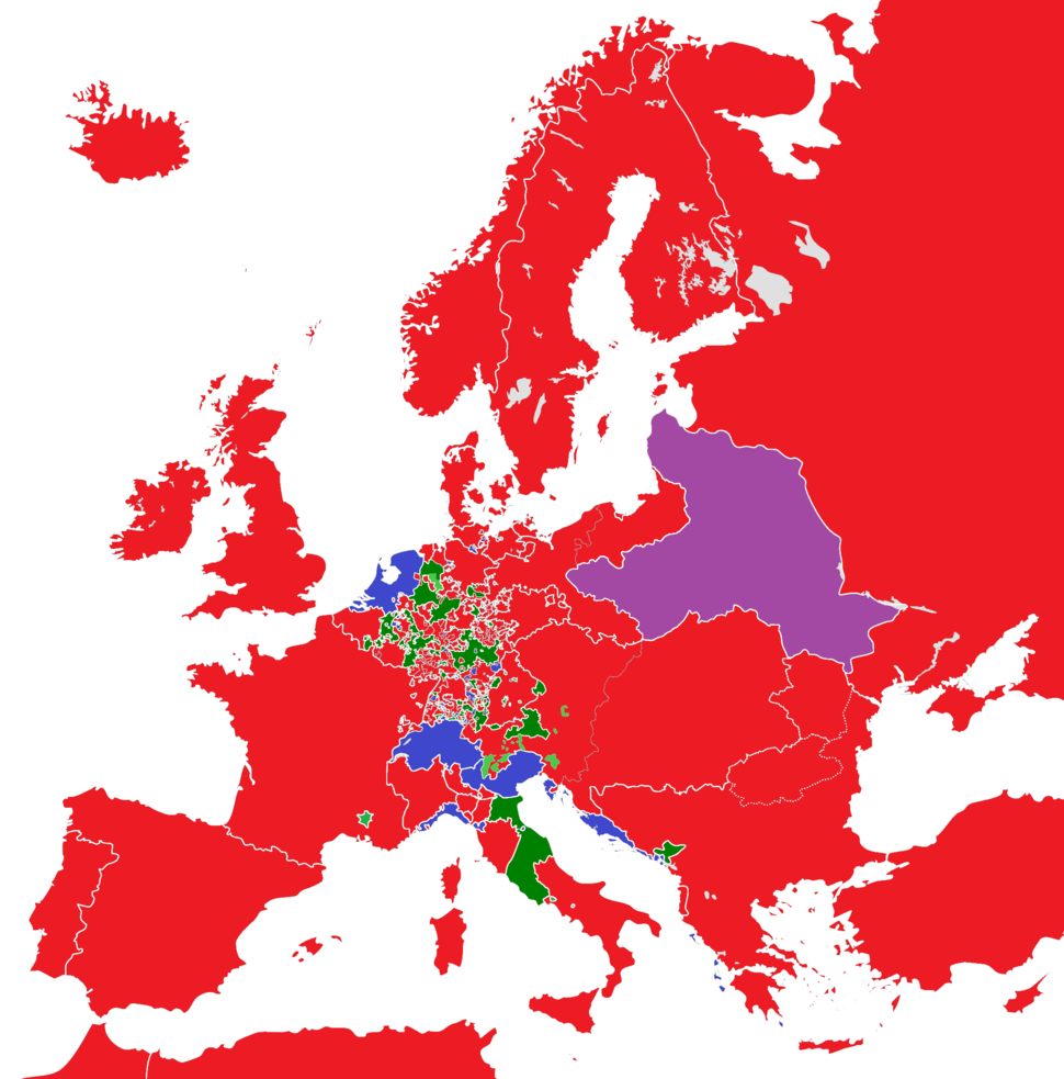 Europe 1789 monarchies, republics and ecclesiastical lands