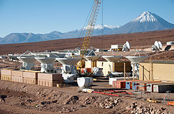 helicopter view of the atacama large millimetersubmillimeter array alma operations support facility osf construction site - House Building Sites