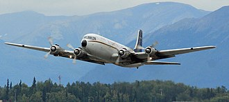 Everts Air Cargo - Everts Air Cargo DC-6 lifting off at Anchorage