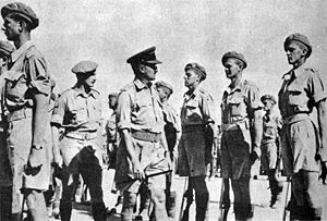 Benjamin inspects the 2nd Battalion, Jewish Brigade, Palestine, October 1944.