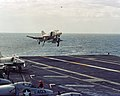 F-4B Phantom II of VF-14 landing on USS John F. Kennedy (CVA-67) on 9 December 1968 (6430103).jpg