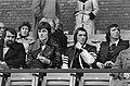 FC Amsterdam tegen PSV 0-0 v.l.n.r. op tribune Edstrom, Deykers en Van der Kuyl, Bestanddeelnr 928-8635.jpg