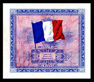 AM-Franc - Image: FRA 114 Allied Military Currency Reverse for 2, 5, 10 Franc notes (1944)