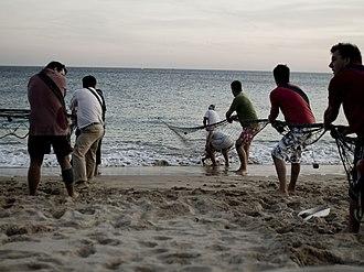 Fishery - Fishermen in Sesimbra, Portugal