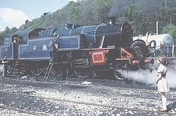 Fairburn 2-6-4T 2085 in Caledonian colours at Haverthwaite