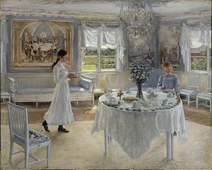 Fanny Brate - A Day of Celebration, Oil on canvas, 1902.