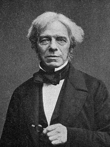 Michael Faraday, c. 1861, aged about 70. Faraday-Millikan-Gale-1913.jpg