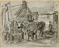 Farmyard with Man and Cattle by Constant Troyon.jpg