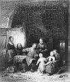 Ferdinand (I) De Braekeleer - Een vrolijk huisgezin - SA 3201 - Amsterdam Museum.jpg