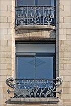 Ferronneries de la façade de lancienne banque Renauld (Nancy) (3997752903)