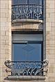 Ferronneries de la façade de lancienne banque Renauld (Nancy) (3997752903).jpg