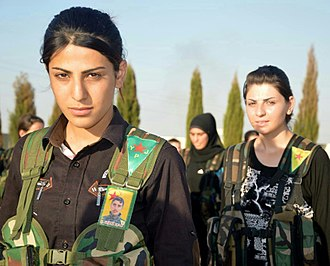 Kurds in Syria - YPG's female units were fighting against ISIS in Syria