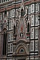 Firenze - Florence - Piazza del Duomo - View NW on Neo-Gothic decorations above South-Entrance of il Duomo.jpg