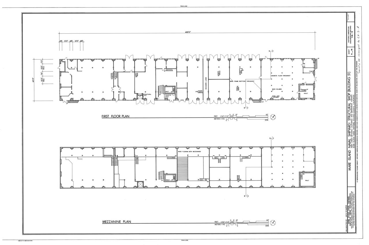 file first floor plan mezzanine plan mare island naval shipyard file first floor plan mezzanine plan mare island naval shipyard structural shop near state highway 37 vallejo solano county ca haer cal 48 mari 1 f