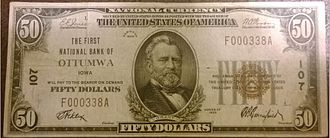 National Bank Note - A small-size National Bank Note, series of 1929.
