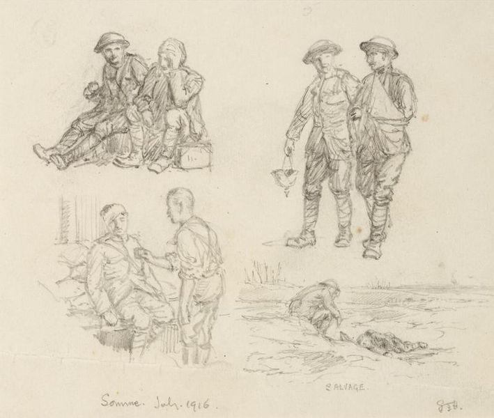 File:First World War Sketchbook Volume 1 - Salvage, Somme, July 1916 Art.IWMART16707A25b.jpg