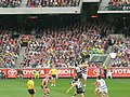 First bounce, 2009 AFL Grand Final.jpg