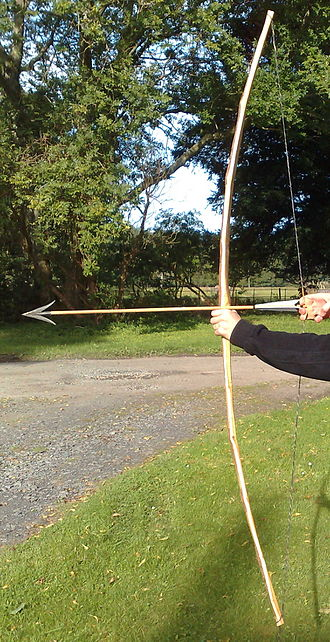 Self bow - A bow made from straight, but knotty and poor-quality yew